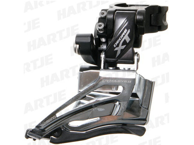 Shimano Deore XT FD-M8025 Forskifter 2x11-speed Top Pull sort/sølv (2019) | Front derailleur
